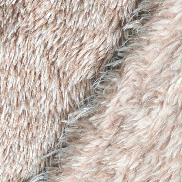 Tissu de décoration Peluche fourrure, chiné – sable