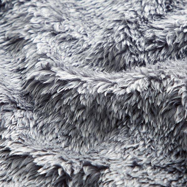 Tissu de décoration Peluche fourrure, chiné – gris