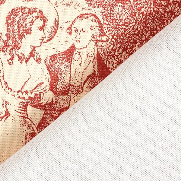 Tissu de décoration Semi-panama Toile de Jour – rouge rouille/crème
