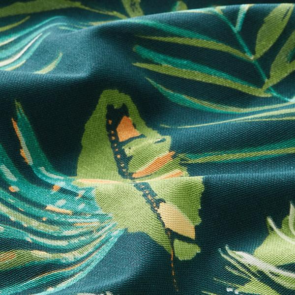Tissu de décoration Semi-panama  Monstera – bleu marine