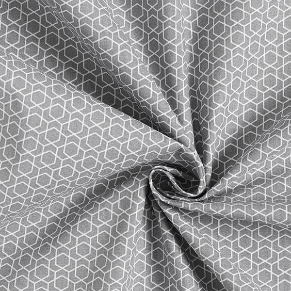 Baumwollstoff Cretonne Labyrinth – grau