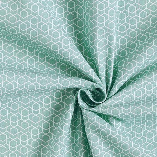 Tissu en coton Cretonne Labyrinthe – vert menthe