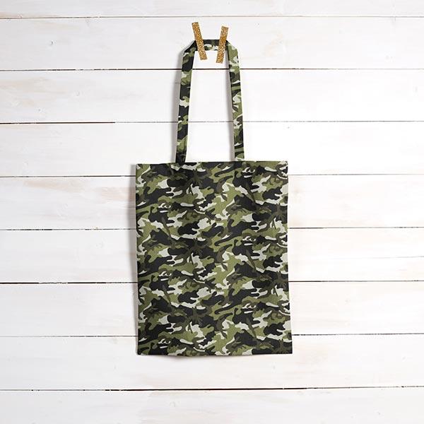 Tissu en coton Cretonne Camouflage – kaki/vert foncé