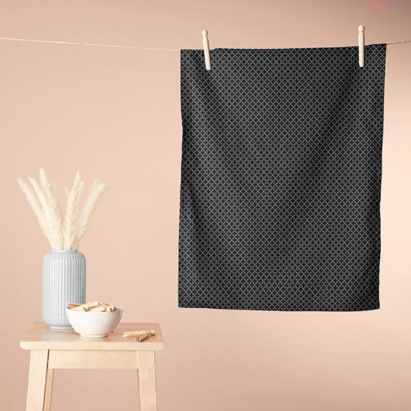 Tissu en coton Cretonne Cercles Ronds – noir