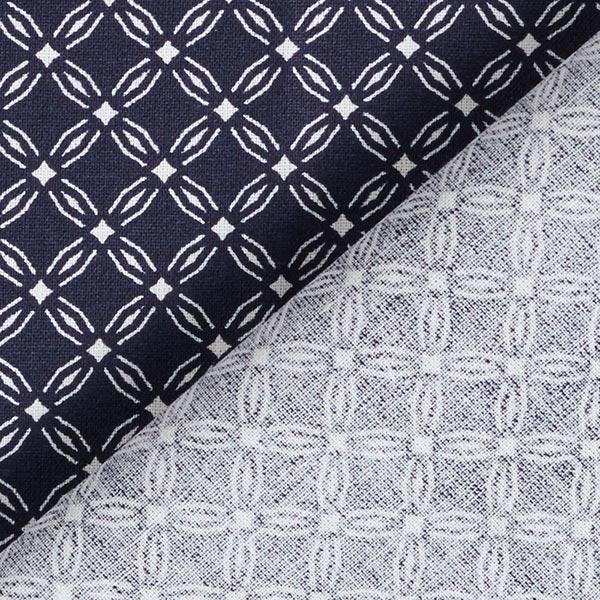 Tissu en coton Cretonne Cercles Ronds – bleu marine