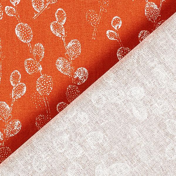 Tissu en coton Cretonne Bourgeons – terre cuite