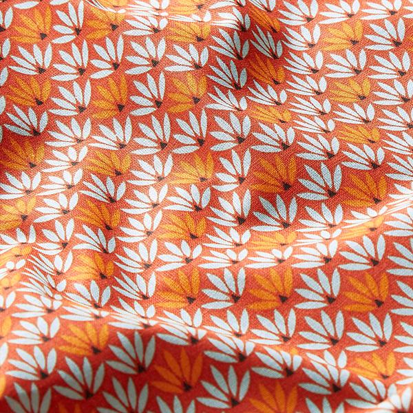 Tissu en coton Cretonne Nénuphars – terre cuite/turquoise