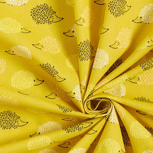 Popeline coton Hérisson – moutarde