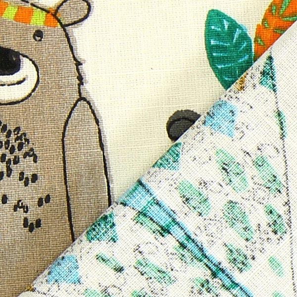 Cretonne Tipi et ours