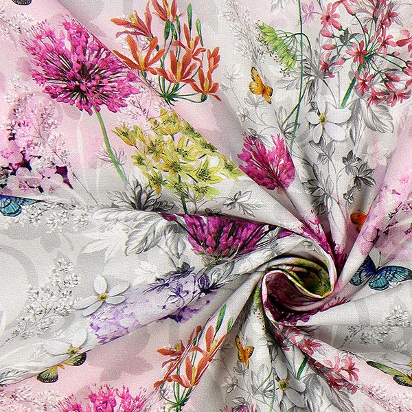 Cretonne Jardin fleuri Lepy
