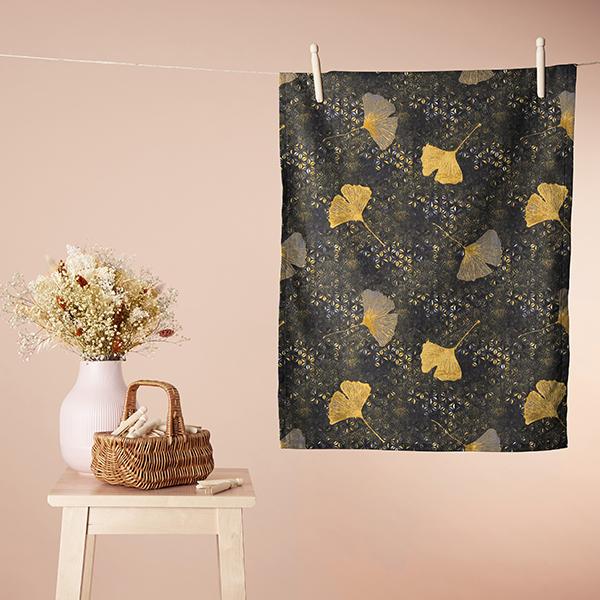 Tissu en coton Cretonne Ginkgo – moutarde
