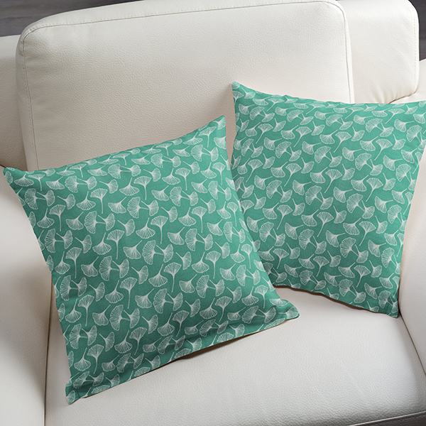 Tissu en coton Cretonne  Ginkgo – turquoise