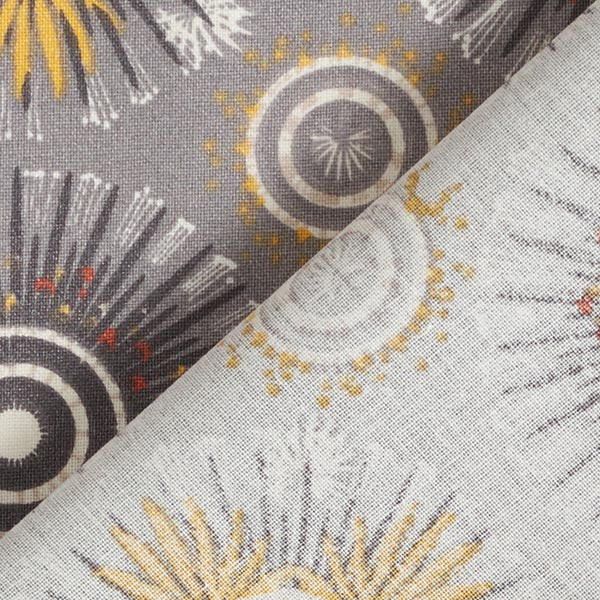 Coton enduit Mandala – gris