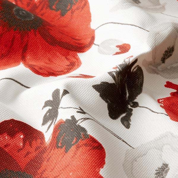 Tissu d'ameublement et de décoration Poppyly – blanc