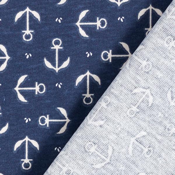 PUL Jersey coton Ancre – bleu marine