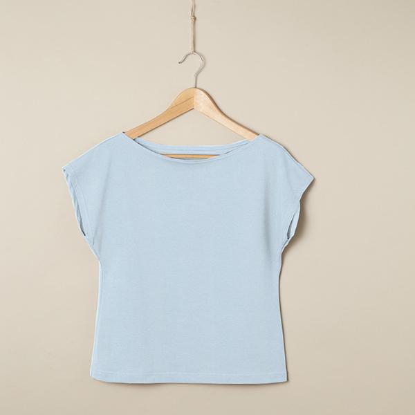 PUL Jersey coton uni – bleu bébé