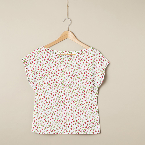 PUL Jersey coton Cerises – blanc