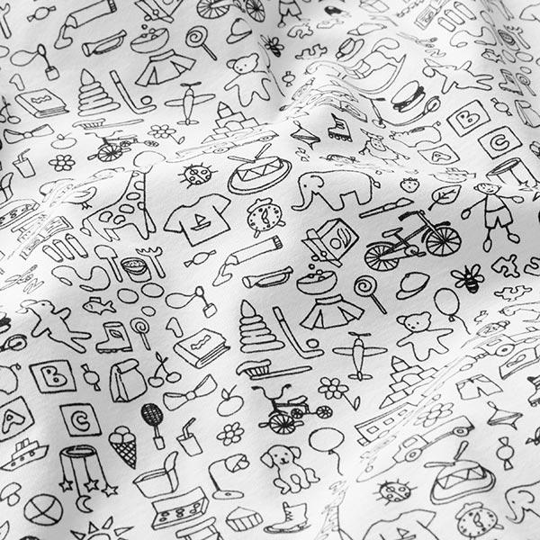 PUL Jersey coton Le monde de bébé – blanc/noir