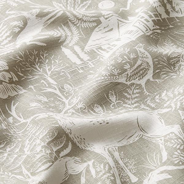 Lin de décoration Paysage forestier – beige