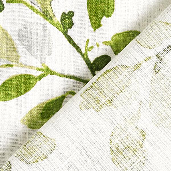 Lin de décoration Rinceaux de feuilles – vert