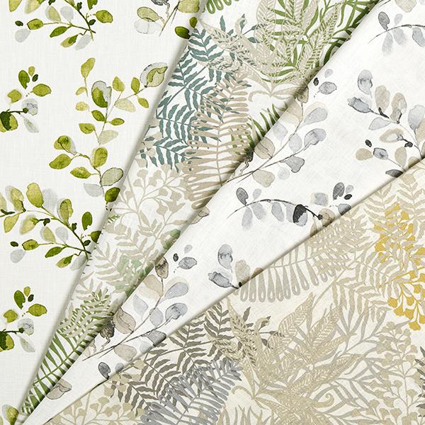 Dekoleinen Blätterranken – grau