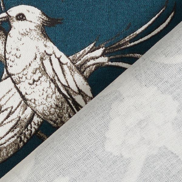 Tissu de décoration Satin de coton Toile de Jour – pétrole