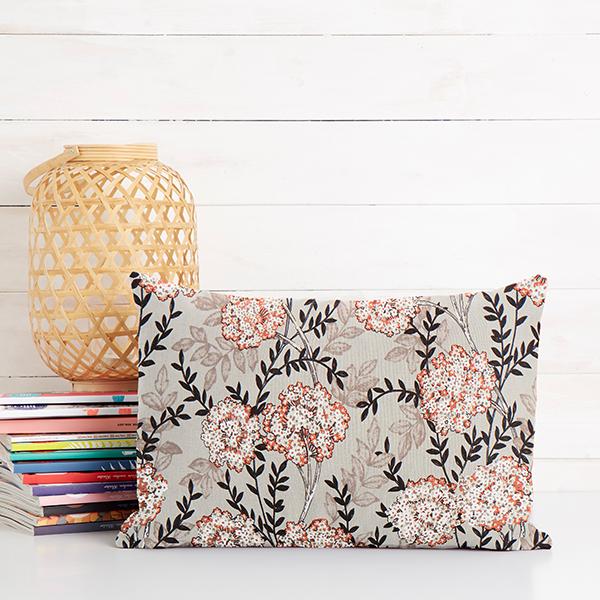 Tissu de décoration Satin de coton Hortensia – nature