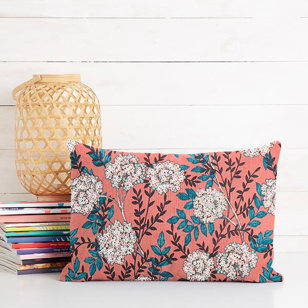 Tissu de décoration Satin de coton Hortensia – terre cuite