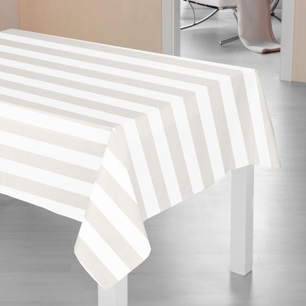 Sergé en coton Rayures 1 – gris clair/blanc