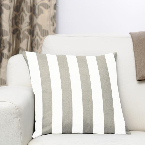 Sergé en coton Rayures 2 – gris/blanc