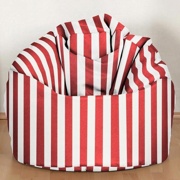 Sergé en coton Rayures 4 – rouge/blanc