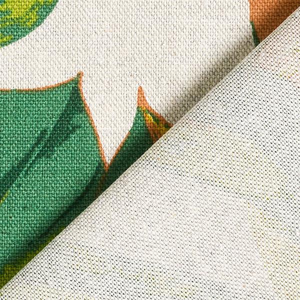 Tissu de décoration Semi-panama  Monstera – vert