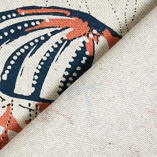 Tissu de décoration Semi-panama  Méduses – corail