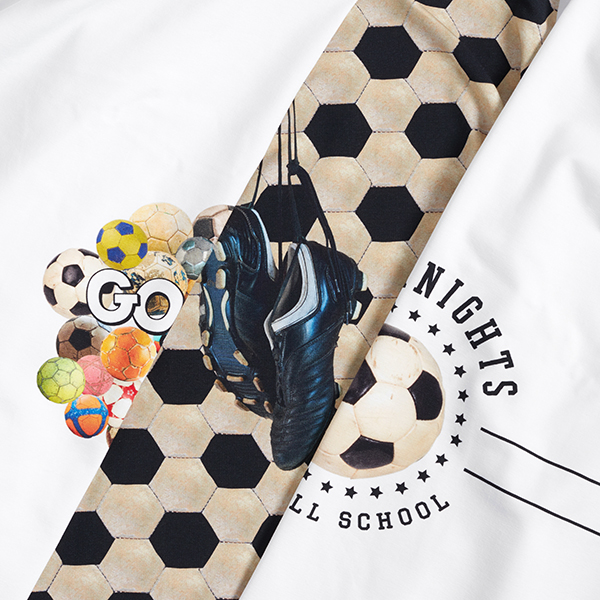 Jersey coton Panel Football – blanc