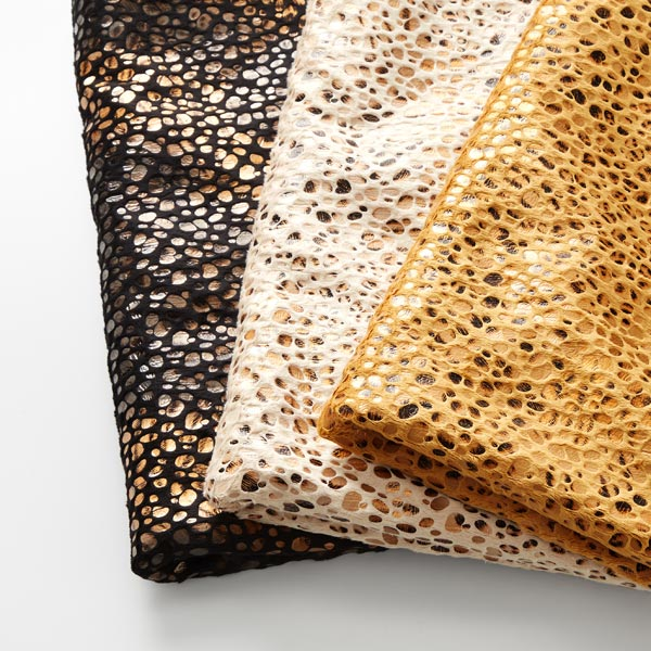 Polaire douillet imprimé feuille léopard – beige
