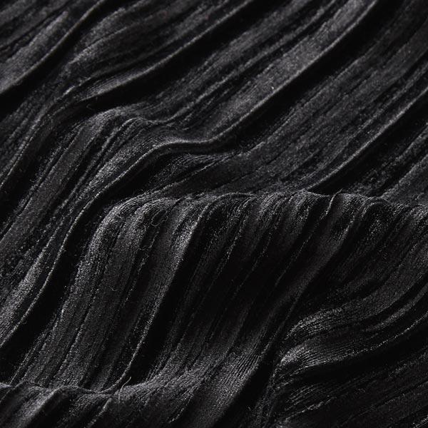 Velours stretch Plis plissés – noir