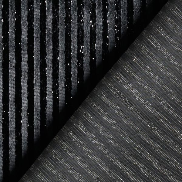 Velours élégantes rayures scintillantes – noir