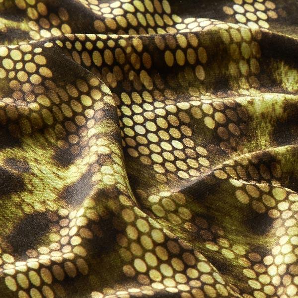Velours stretch rétro animal – olive