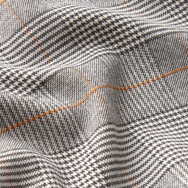Tissu de pantalon Stretch Glencheck – noir/blanc