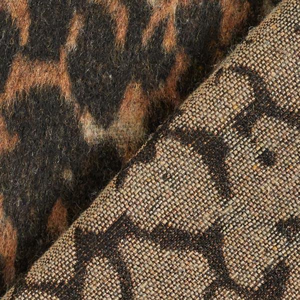 Mantelstoff Leopard Camouflage – braun/beige