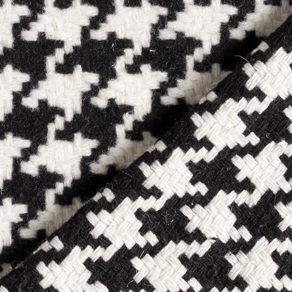 Tissu de manteau Pied-de-poule 24mm – noir/blanc