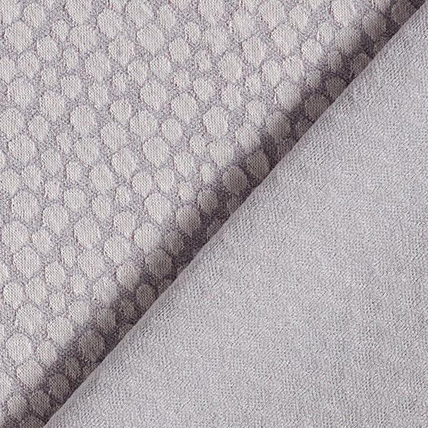 Jacquard jersey tissu bulles de savon – gris/argent