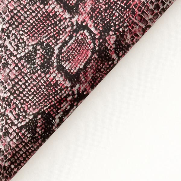 Imitation cuir serpent – rose vif