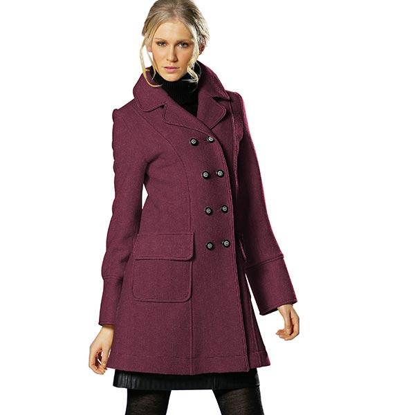 Tissu de manteau mélange laine – rouge bordeaux