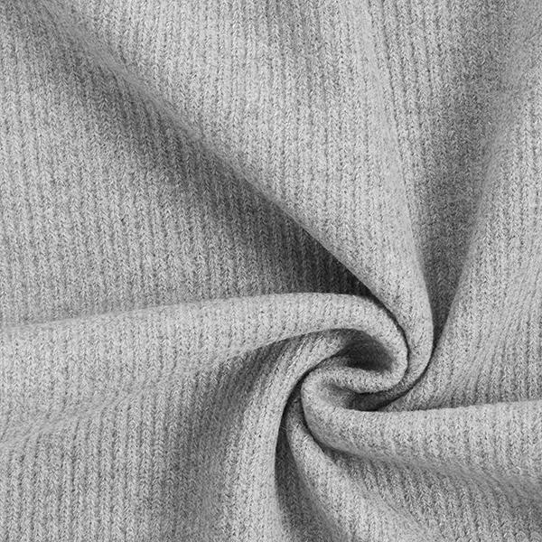 Tissu maille aspect côtelé – gris