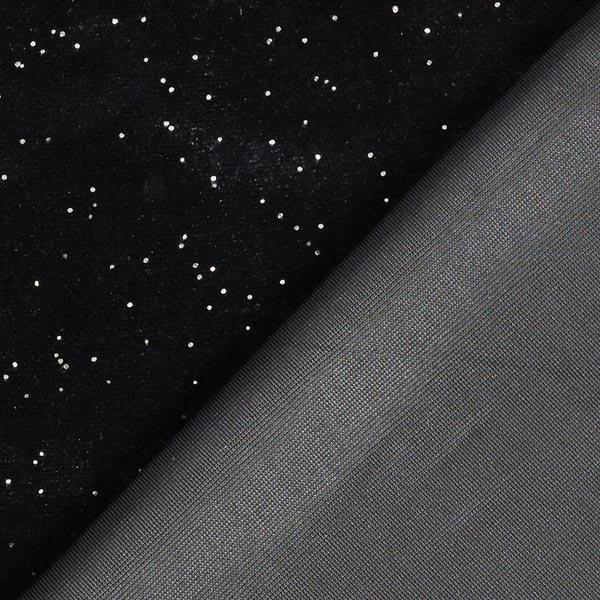 Velours stretch ciel de minuit étoilé – noir
