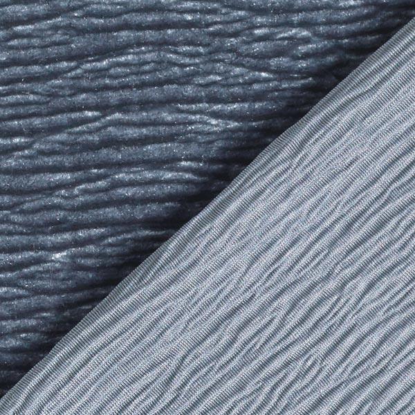 Velours stretch Effet Crinkle – gris bleu