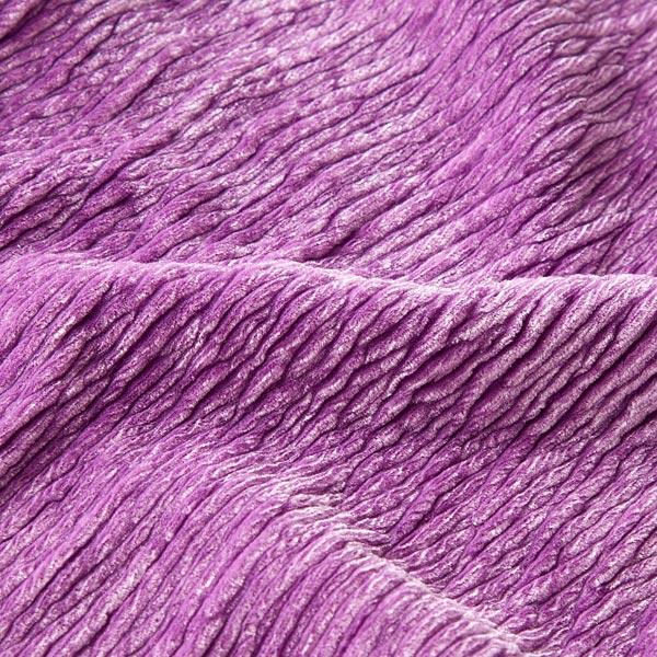Velours stretch Effet Crinkle – violet