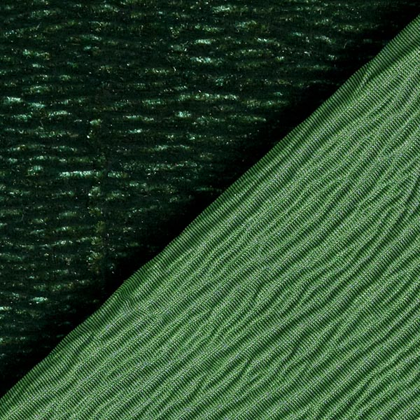Velours stretch Effet Crinkle – vert foncé