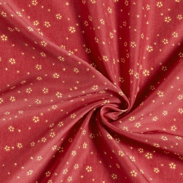 Tissu pour chemisier Pétales de fleurs – rouge rouille